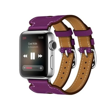 The Best Non-Apple Purple The Best Replica Hermès Double Buckle Cuff Apple Watch Band
