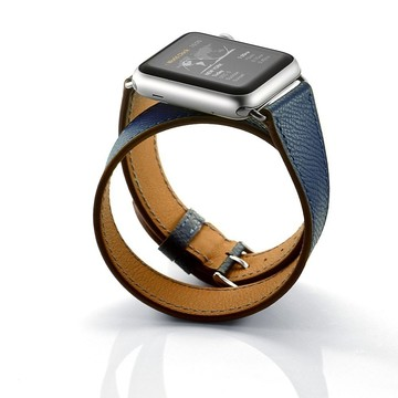 The Best Non-Apple Midnight Blue Hermès Double Tour Apple Watch Band