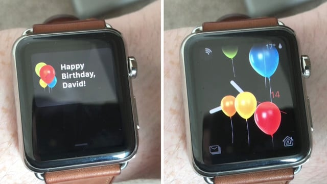 Sweet Birthday Wishes Coming in watchOS 4